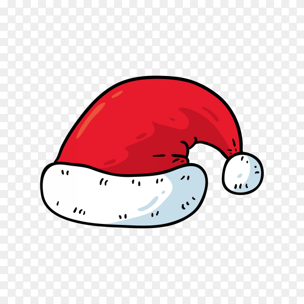 Cartoon Santa Claus hat Premium vector PNG