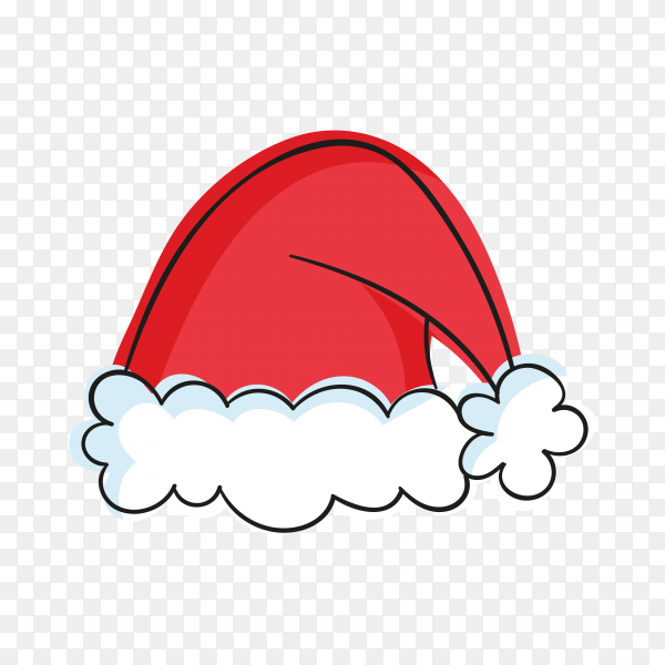 Cartoon Santa Claus hat illustration premium vector PNG