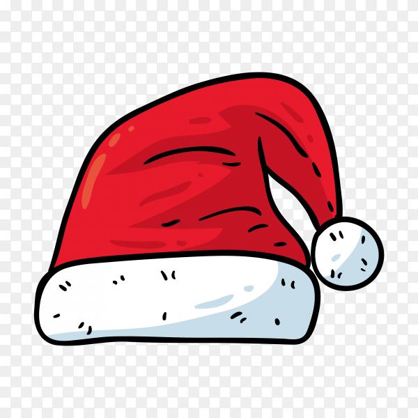 Cartoon Santa Claus hat on transparent background PNG
