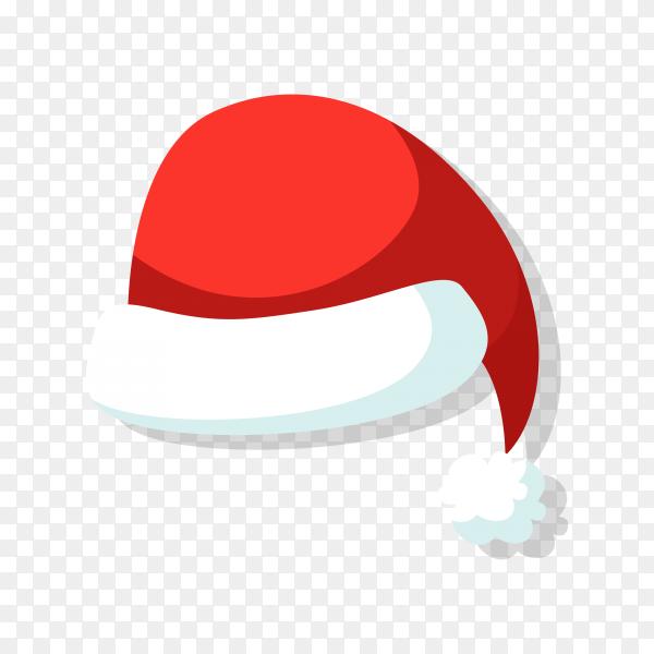 Cartoon Santa hat illustration on transparent background PNG