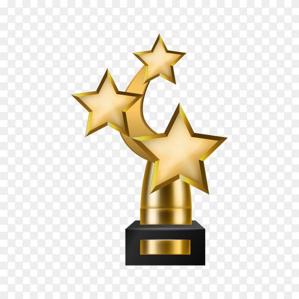 Champion golden trophy on transparent background PNG