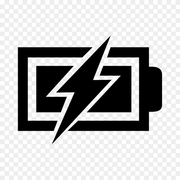 Charging battery icon on transparent background PNG