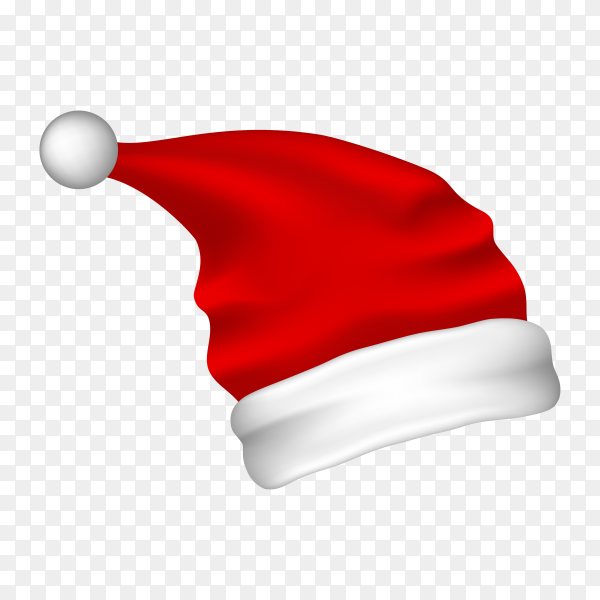 Christmas hat illustration on transparent background PNG