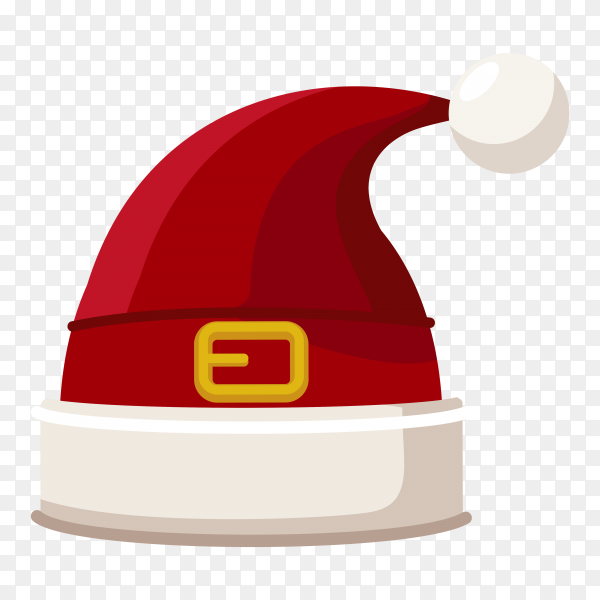 Christmas illustration with red santa hat premium vector PNG