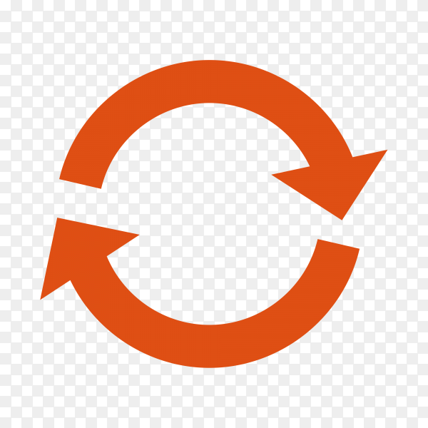 Circle Arrow Icon on transparent background PNG