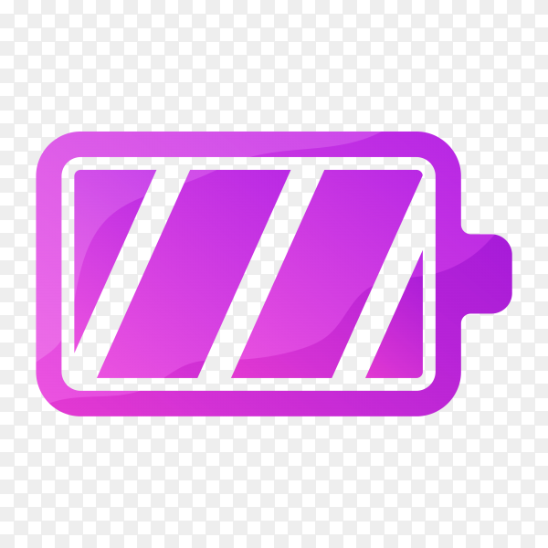 Colorful battery logo template premium vector PNG