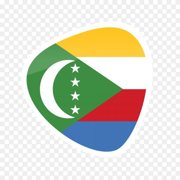 Comoros flag on transparent background PNG