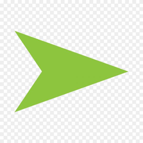Directional arrow sign on transparent PNG