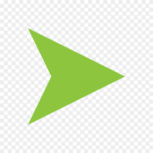 Directional arrow sign on transparent background PNG