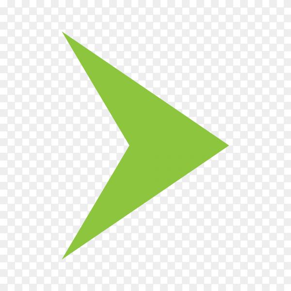 Directional arrow sign premium vector PNG