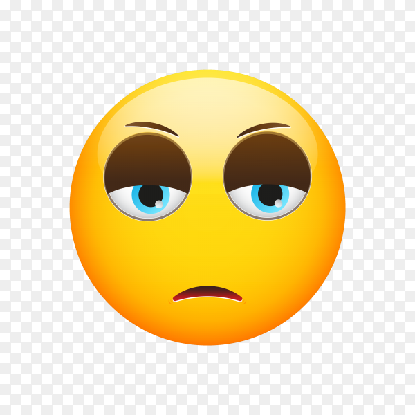 Disappointed Face Emoji on transparent background PNG