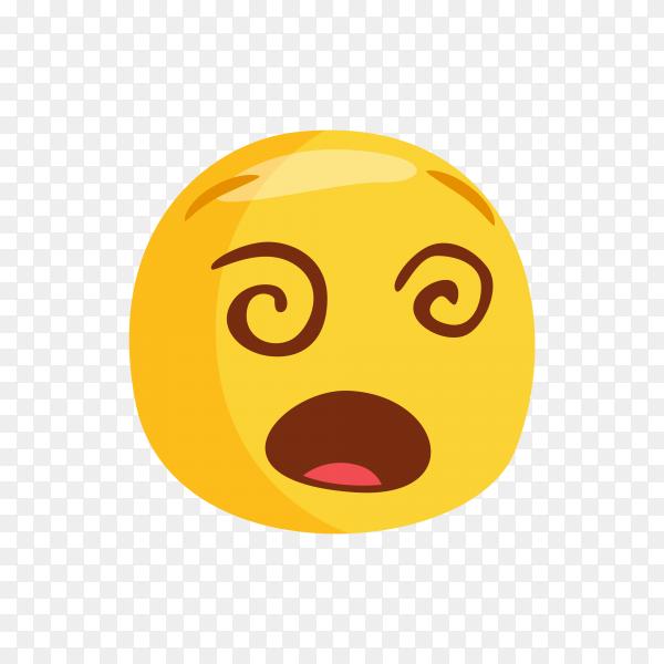 Dizzy Face Emoji Premium vector PNG