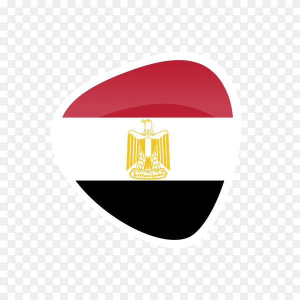 Egypt flag icon on transparent background PNG