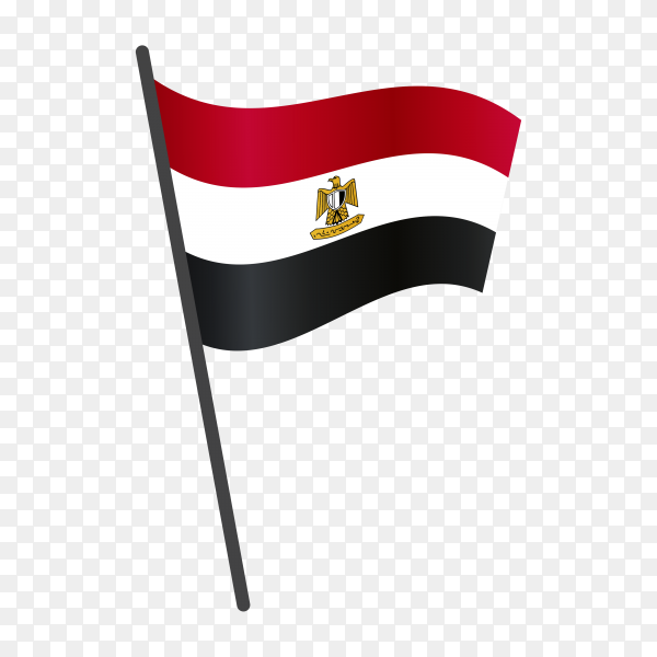 Egypt flag isolated on transparent background PNG