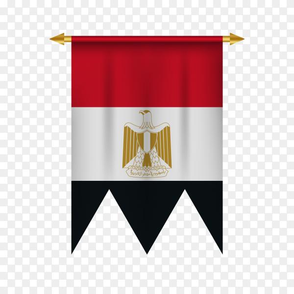 Egypt pennant illustration on transparent background PNG