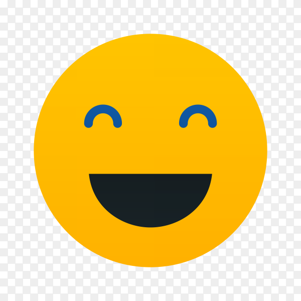 Emoticon smiley with a huge smile on his face on transparent background PNG