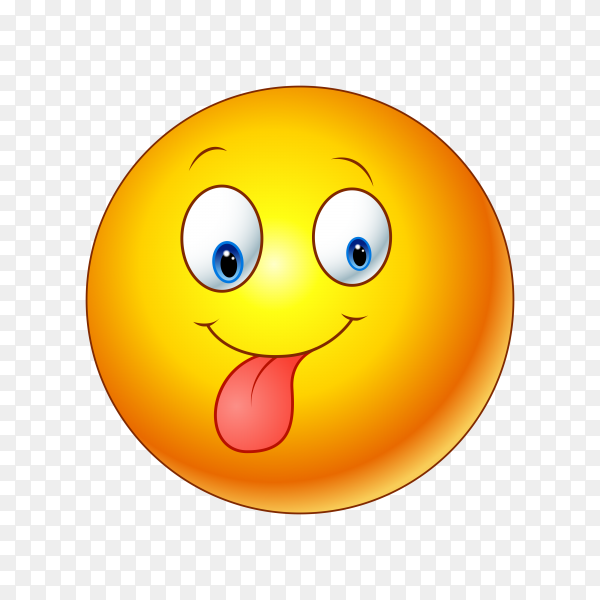 Face with Stuck-Out Tongue Emoji Clipart PNG