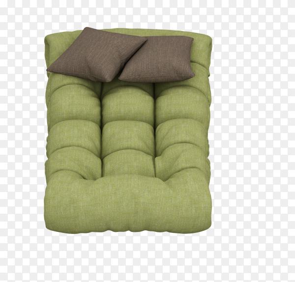 Fancy Pumpkin Elegant Solid Color Floor Cushion on transparent background PNG