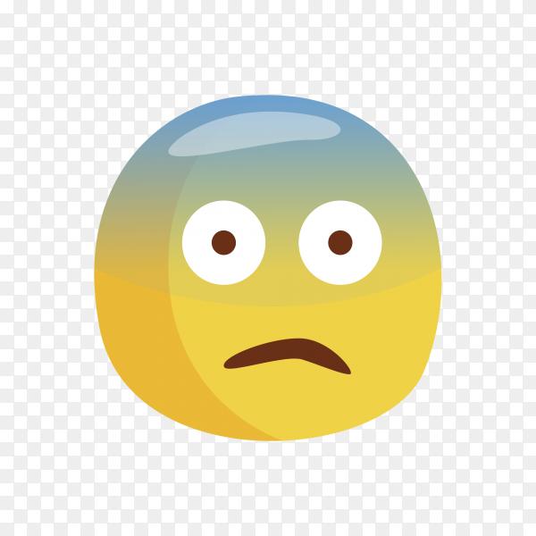 Fearful Face Emoji Premium vector PNG