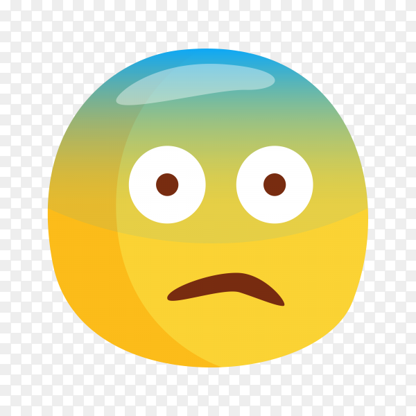 Fearful Face Emoji on transparent background PNG