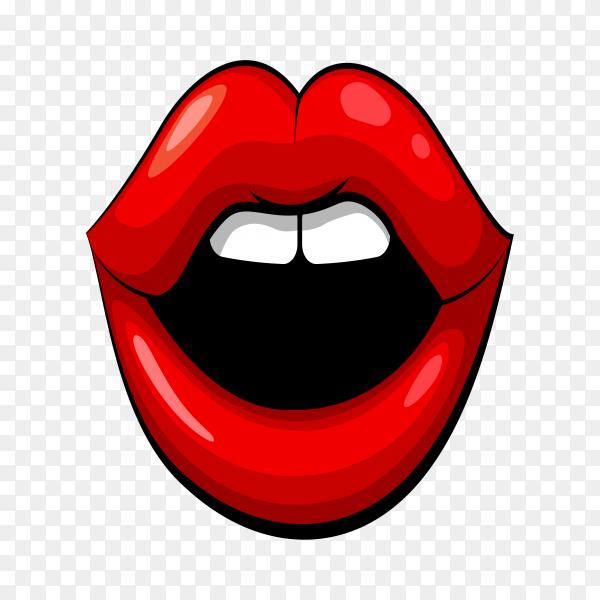 Female lips make up on transparent background PNG