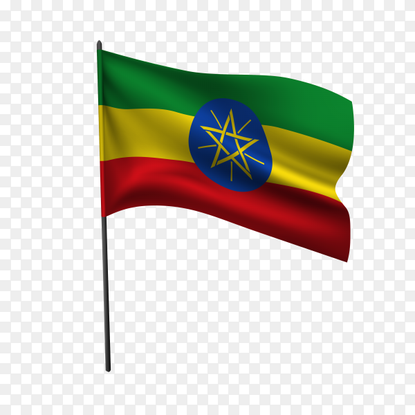 Flag of Ethiopia illustration on transparent background PNG