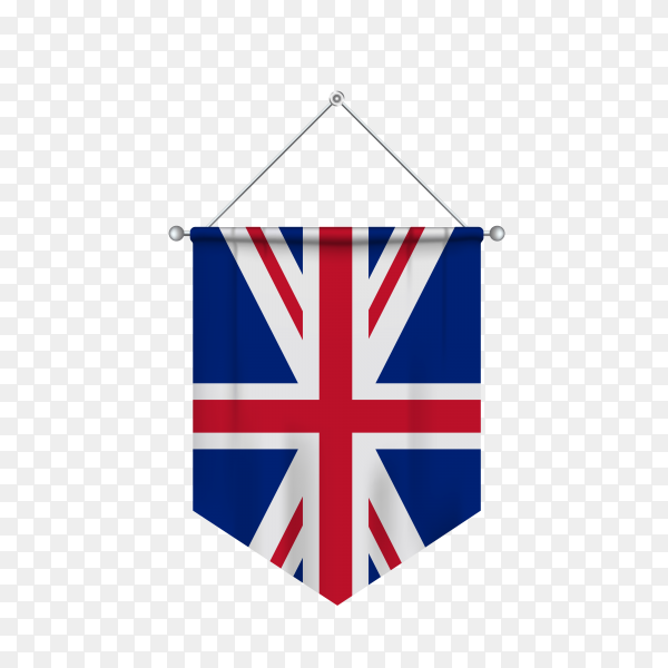 Flag of united kingdom isolated on transparent background PNG