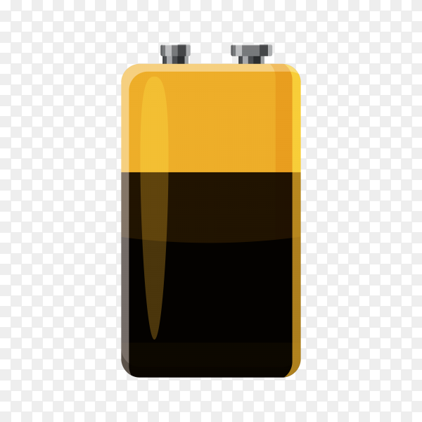 Flat design battery isolated Vector PNG
