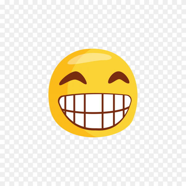 Funny cute emoticon on transparent background PNG