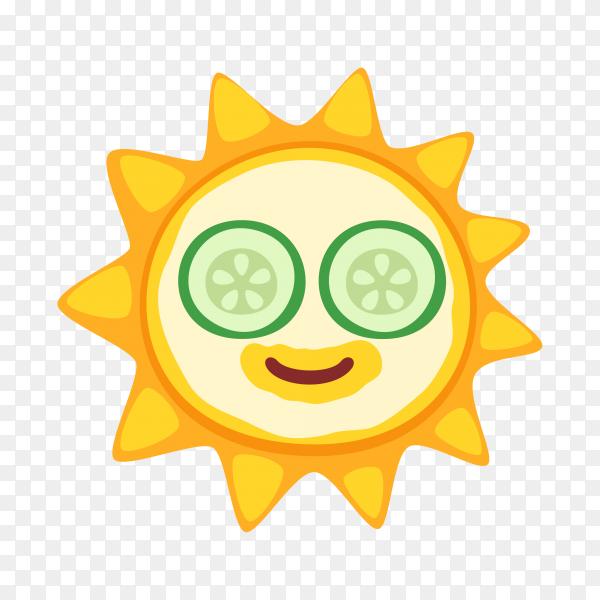 Funny star emoji face on transparent background PNG