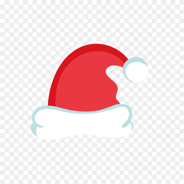 Hand drawn Santa Claus hat in red Color Clipart PNG