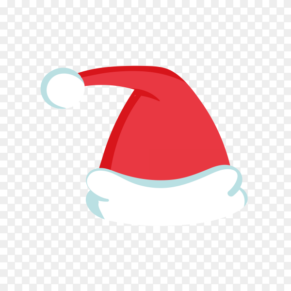 Hand drawn Santa Claus hat in red Color premium vector PNG