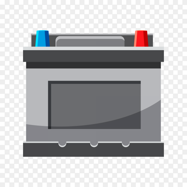 Hand drawn battery isolated premium vector PNG
