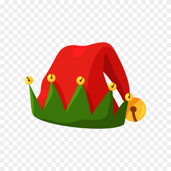 Hand drawn Santa's hat isolated Premium vector PNG