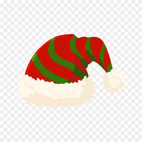 Hand drawn Santa's hat isolated on transparent background PNG