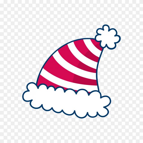 Hand drawn santa claus hat Clipart PNG