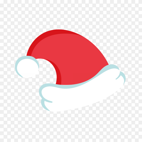 Hand drawn Santa Claus red hat Clipart PNG