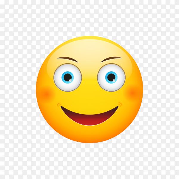 Happy Emoji Face Illustration on transparent background PNG