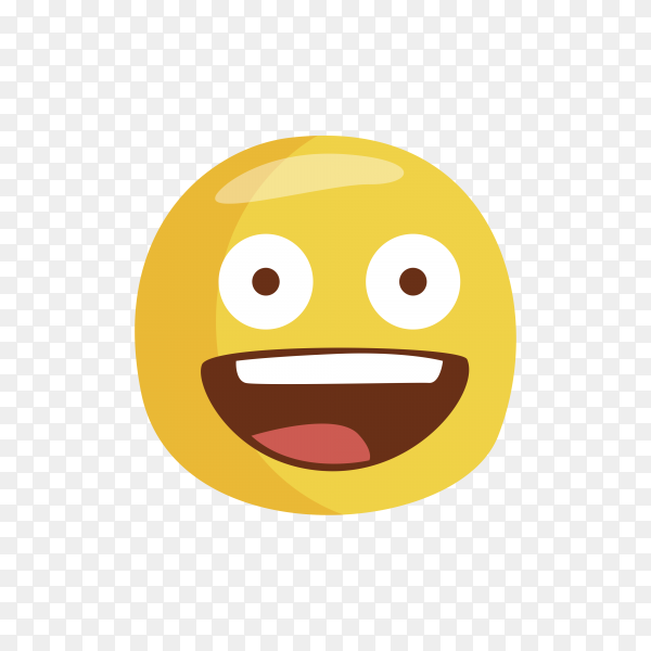 Happy Emoji face isolated on transparent background PNG