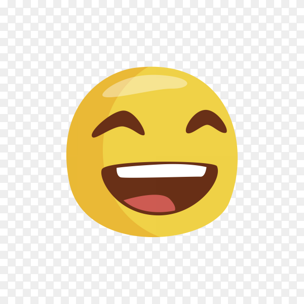 Happy Emoji icon on transparent background PNG