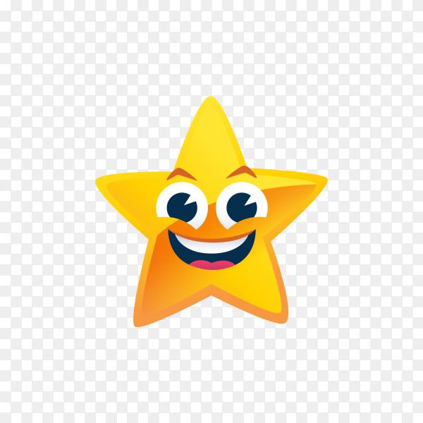 Happy Star emoji on transparent background PNG