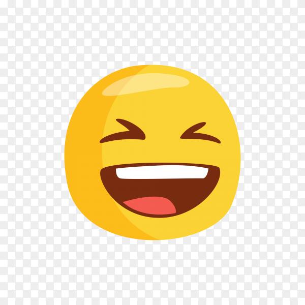 Happy smiley Emoji face on transparent PNG