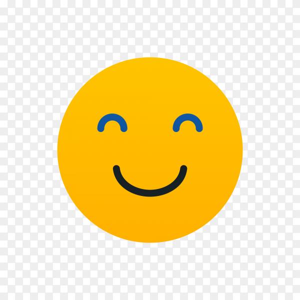 Happy smiley Emoji face on transparent background PNG
