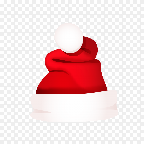Hat of Santa Claus Clipart PNG