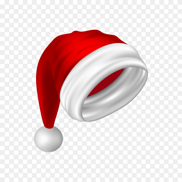 Hat of Santa Claus isolated premium vector PNG