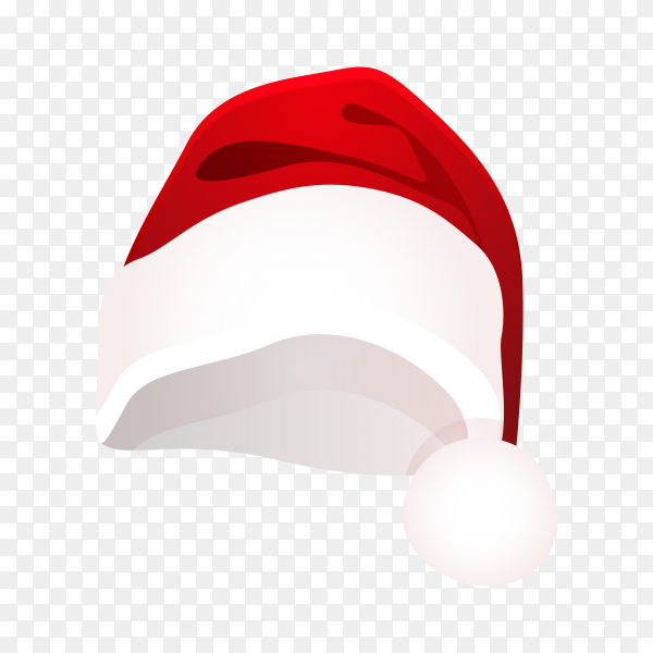 Hat of santa claus on transparent background PNG