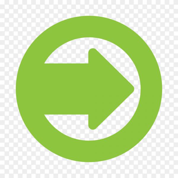 Illustration of green arrow design on transparent background PNG