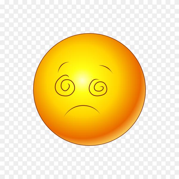 Illustration of sad emoji isolated on transparent background PNG
