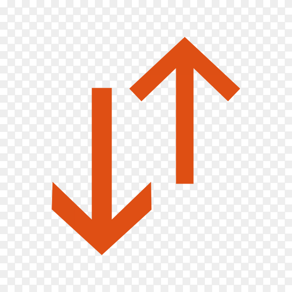 Illustration of switch arrows on transparent background PNG