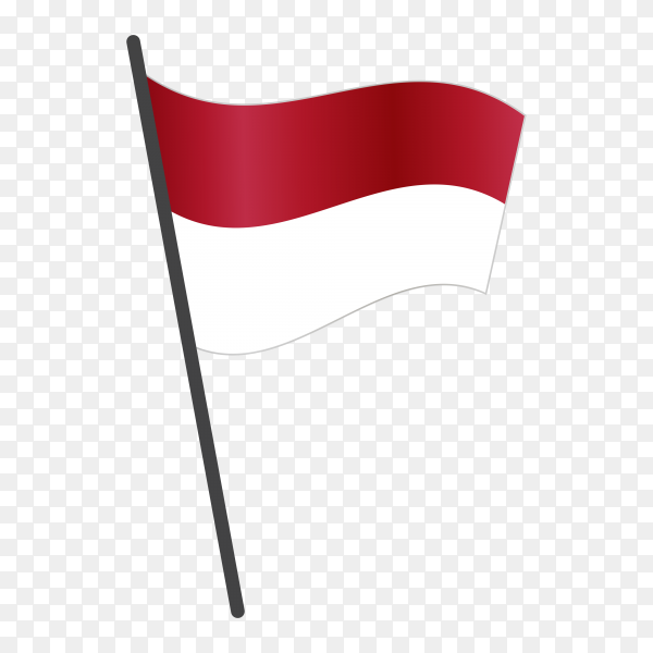 Indonesia flag isolated on transparent background PNG